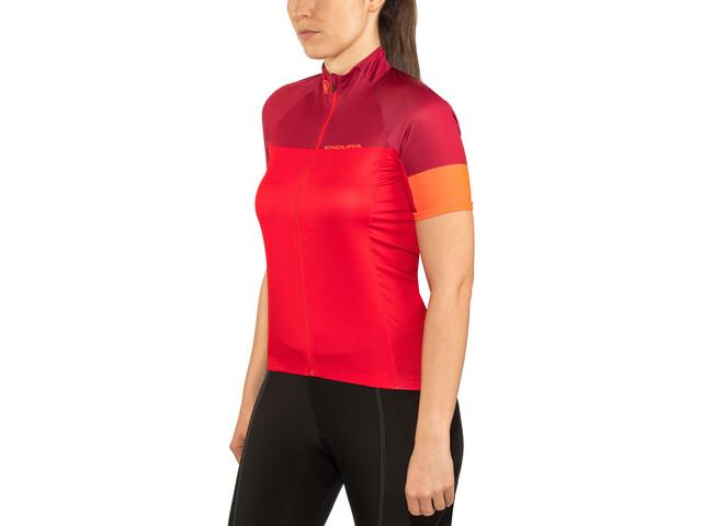 Endura Hyperon II Naiset Pyöräilypaita lyhythihainen , punainen